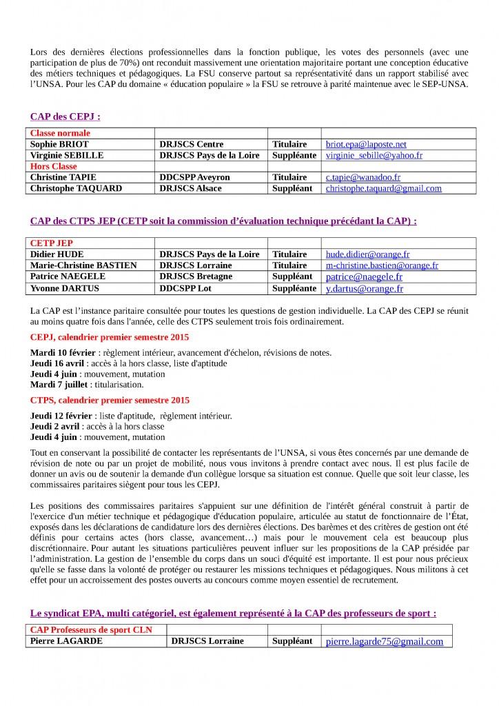 Communication JEP CAP