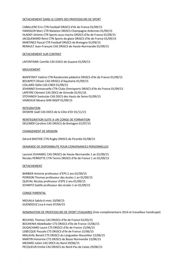 PROPOSITIONS DE LA CAP DES PROFESSEURS DE SPORT DU 9 JUILLET 2015 p2