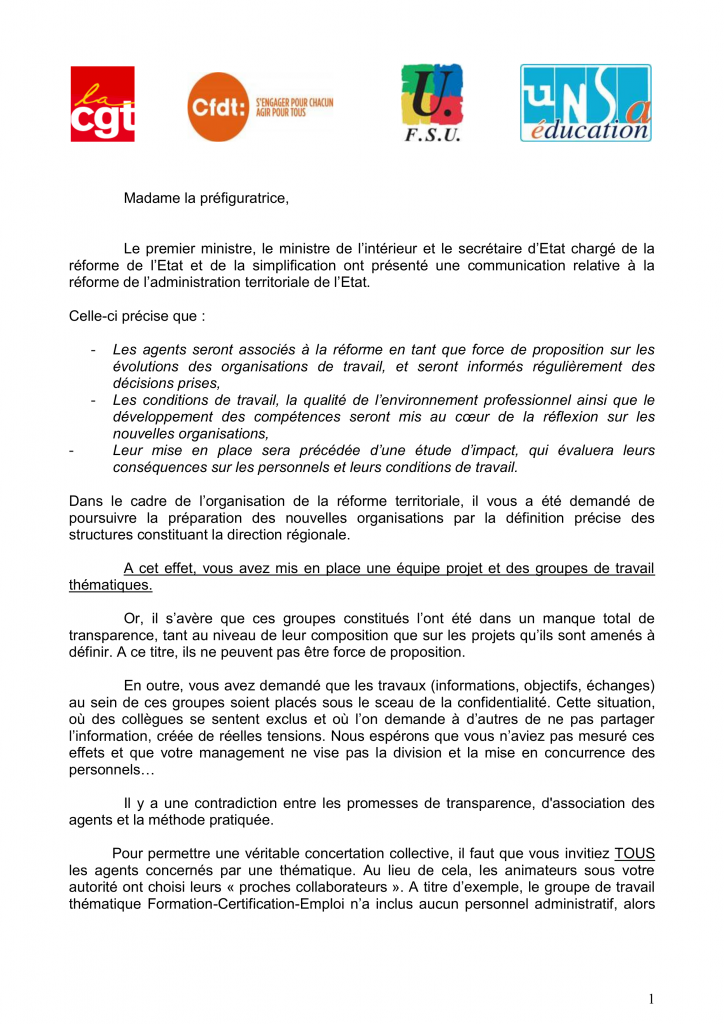 Courrier intersyndical ACAL du 05_10_2015 1