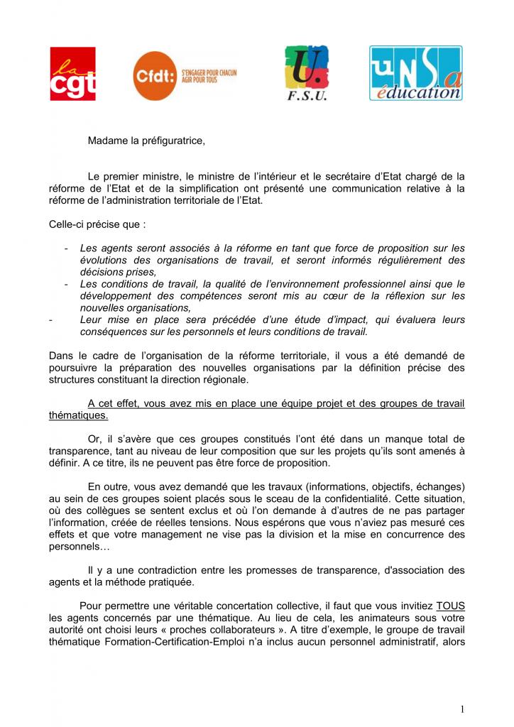 Courrier intersyndical ACAL du 05_10_2015 1
