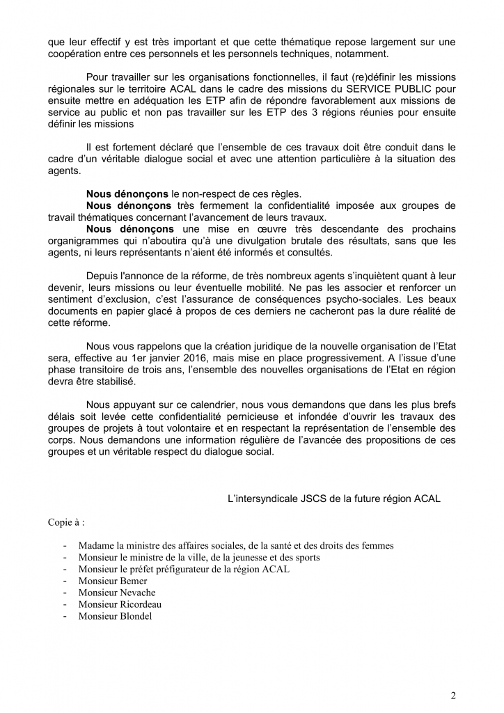 Courrier intersyndical ACAL du 05_10_2015 2